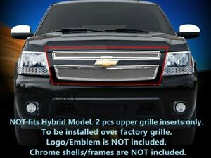 Front Mesh Grille Stainless Steel For 2007 2014 Chevy Tahoe Suburban Avalanche