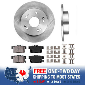 Rear 259 Mm Oe Brake Rotors And Ceramic Pads Ilx Honda Civic Coupe Sedan Prelude