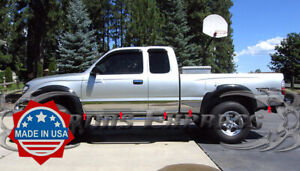 Fit 95 04 Toyota Tacoma Extended Cab 4wd Short Bed Rocker Panel Trim Wf 10pc 5