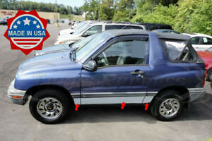 1999 2004 Chevy Geo Tracker 2dr Chrome Rocker Panel Trim Stainless Steel 6pc