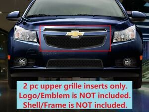 Black Dual Weave Mesh Grille Insert For Chevy Cruze 2011 2012 2013 2014