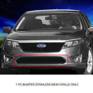 Black Lower Bumper Formed Mesh Grille For Ford Fusion 2010 2011 2012