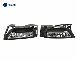 Clear Fog Lights Driving Lamp Pair Kit For Honda Accord 2013 2014 2015
