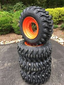 4 New 12 16 5 Skid Steer Tires wheels rims For Bobcat A300 a770 s750 s770 s740