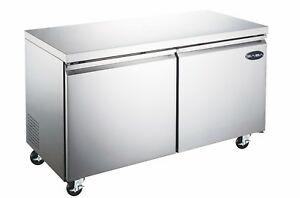 Heavy Duty Commercial Two Door Under counter Freezer