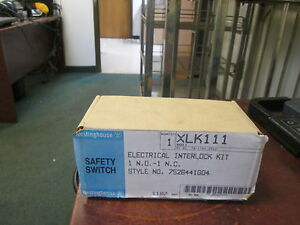 Westinghouse Xlk111 Electrical Interlock Kit 752b441g04 1 N o 1 N c