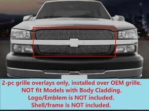 Vertical Billet Grille Overlays For Chevy Silverado Avalanche 02 06