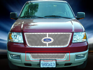 Bumper Formed Mesh Grille Grill For Ford Expedition 2003 2004 2005 2006