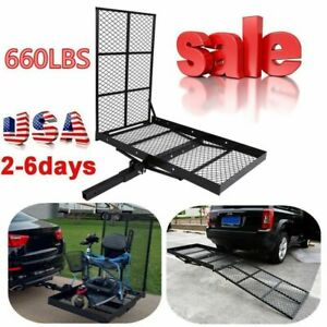 48 X 28 Foldable Hitch Mount Towing Wheel Chair Scooter Carrier Platform Rack