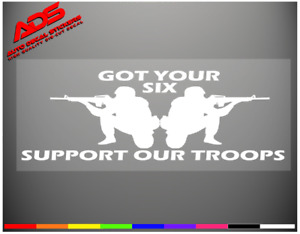 Support Our Troops Decal Sticker Vinyl Bumper Military Patriotic Usa Car 116