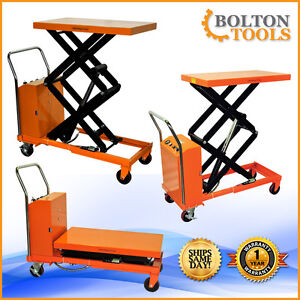 Bolton Tools Hydraulic Hand Electric Table Truck 770 Lb Etf35