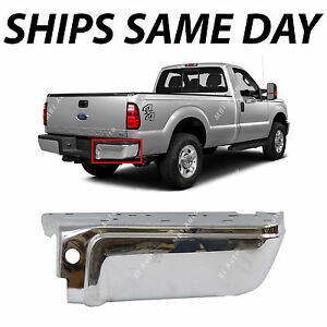 New Chrome Steel Rear Right Rh Bumper End For 2008 2016 Ford F250 F350 Sd 08 16