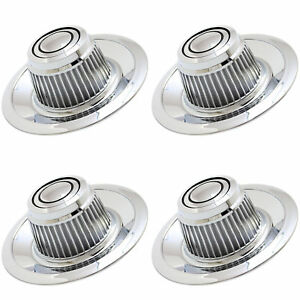 4pc Fits Chevy Gm Rally Derby Wheel Chrome Center Hub Cap 15x8 15x7 Hi Hat Cover