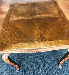 Antique French Draw Leaf Dark Oak Dining Table