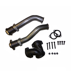 Bellowed Up Pipe Kit 1999 2003 Ford 7 3l Powerstroke Diesel With Hardware