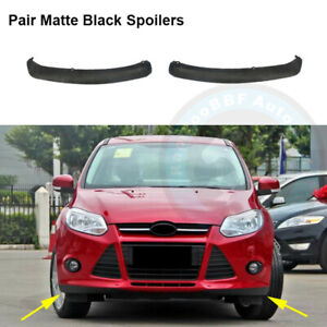 Fit For Ford Focus 2012 2014 Left Right Front Bumper Spoiler Lip Air Splitter