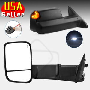 For 2002 08 Dodge Ram 1500 03 09 2500 3500 Tow Mirrors Power Heated Turn Signals