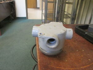 Crouse hinds Explosion Proof Outlet Box Ev 26 1 2 Used