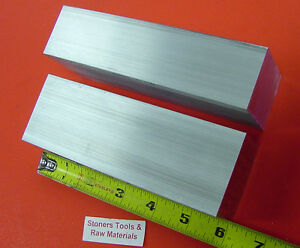 2 Pieces 2 X 2 1 2 Aluminum 6061 Flat Bar 6 Long 2 0 x 2 5 Solid Mill Stock