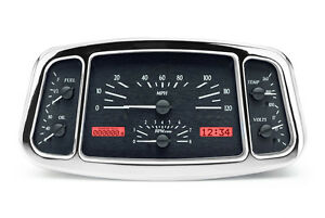 Dakota Digital 33 34 Ford Car Analog Gauges System Black Alloy Red Vhx 33f K R