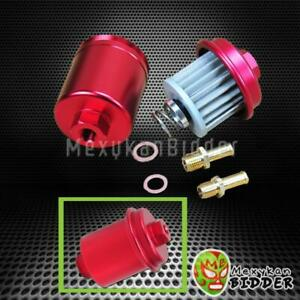 For Honda Civic Acura Integra Racing High Flow Volume Fuel Filter 200psi Red