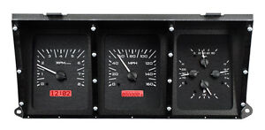 Dakota Digital 73 79 Ford Pickup Truck Analog Gauge Kit Black Red Vhx 73f pu k r