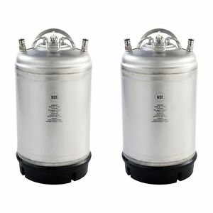 2 Pk New 3 Gallon Ball Lock Kegs Homebrew Cold Brew Coffee Free Shipping