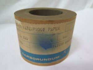 Carborundum Fastcut Waterproof Paper S c Roll 4 X 50yds Grit 400 Brand New