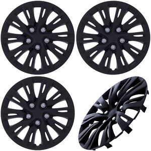 Matte Black Hub Caps Fits 16 Inch Set Of 4pc Wheel Cover Skin Covers Cap