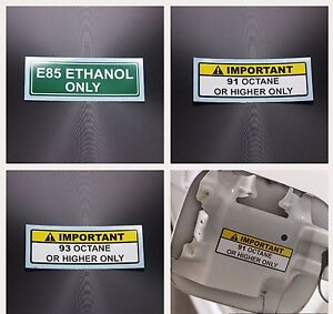 Gasoline Label 50pcs E85 91 93 Octane Racing Dyno Tuning Fuel Sticker Decal