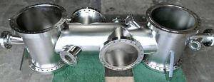 Mdc Varian Stainless Steel High Vacuum Cross chamber Cf250 Port Manifold