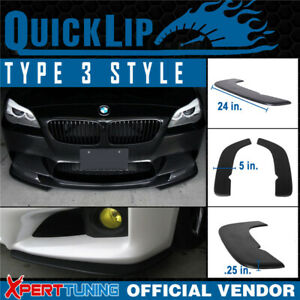 Fit Celica Type 3 Quick Lip Universal Front Bumper Lip Splitter 2pc 24x5in