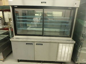 Delfield Refrigerated Stainless Display Case With Mirror Back