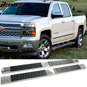 Fits 07 18 Silverado Sierra 1500 Crew Cab 5inch Side Step Bar Running Boards Ss