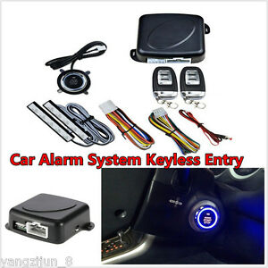 Car Suv Keyless Entry Engine Start Alarm System Push Button Remote Starter 8pcs