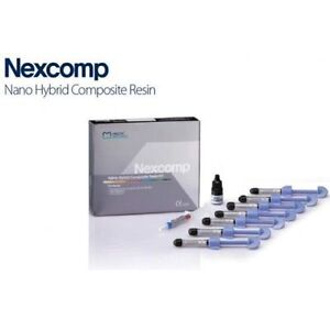 Dental Nexcomp Nano Hybrid Composite Resin Light Cure Cem Kit