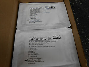 Corning 3385 Hts Transwell 96 Well Plate 3 0 m Pore Polycarbonate Membrane 2 bx