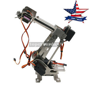 6dof Mechanical Robotic Arm Clamp servos Diy Kit F Robot Smart Car Arduino Usa
