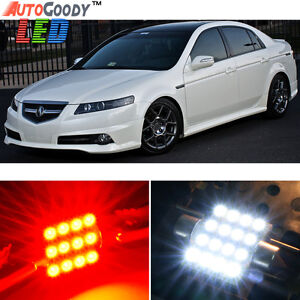 11 X Premium Red Led Lights Interior Package Kit For Acura Tl 2004 2008