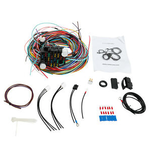 Universal Extra Long Wires 21 Circuit Wiring Harness Hotrod For Chevy Mopar Ford