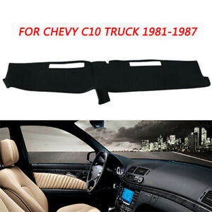Dash Cover Mat Dashboard Pad Carpet For Chevy C10 C20 K10 Truck 1981 1987 Black
