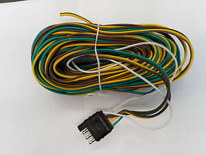Boat Trailer Wire Harness 35 Ft With 4 Flat Plug