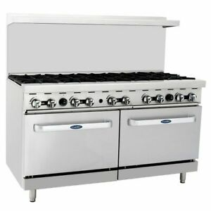 New 60 10 Burner Range Top With Double Oven Stainless Nsf Propane Lp Agr 10b