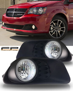 2011 2016 Dodge Grand Caravan Clear Fog Light Lamp Clear Complete Kit W Harness