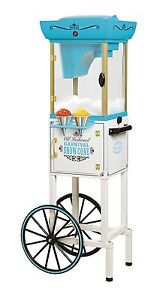 Deluxe Shaving System Maker Ice Machine Snow Cone Cart