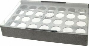 Made In Usa 28 Collet Er40 Plastic Collet Rack And Tray 9 1 8 Inch Wide X 2