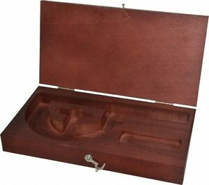 Starrett Satin Chrome Wood Micrometer Case For Use With 226 And 226m Outsid