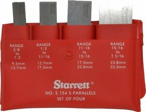 Starrett 3 8 To 1 5 16 Inch Adjustable Parallel Set 1 3 4 To 3 9 16 Inch Long