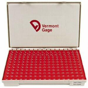 Vermont Gage 185 Piece 1 3 4 98 Mm Diameter Plug And Pin Gage Set Plus 0 01