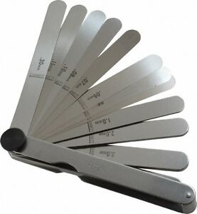 Starrett 13 Piece 0 04 To 5mm Parallel Feeler Gage Set 4 1 2 Long X 1 2 Wi